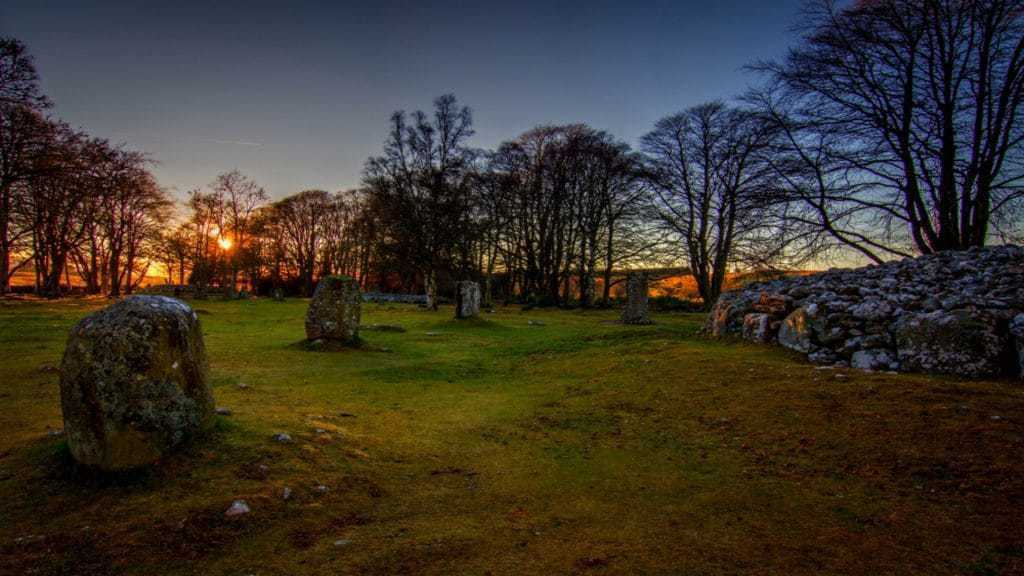 Clava Cairns at sunset