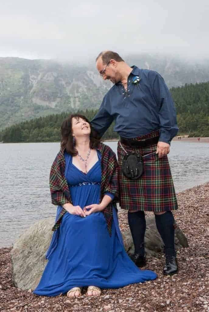 Andy and Di's wedding in Outlander country by Loch Ness
