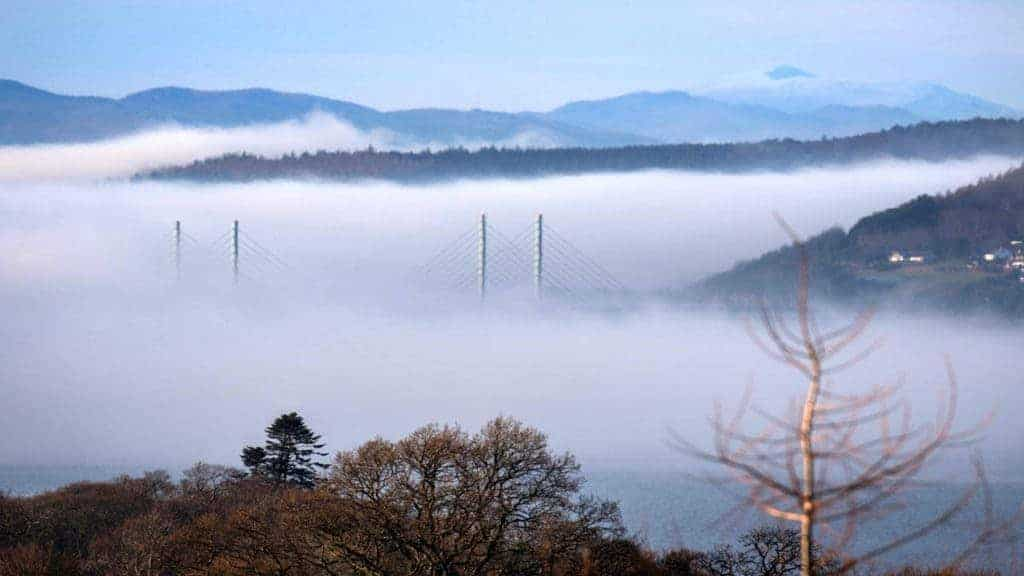 Morning mist over Inverness