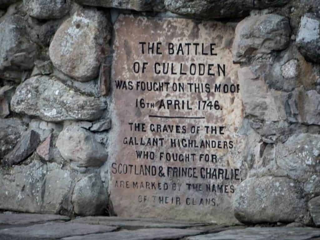 The Battle of Culloden memorial cairn